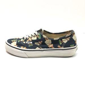 VANS Blue Aloha Sneakers Size 8